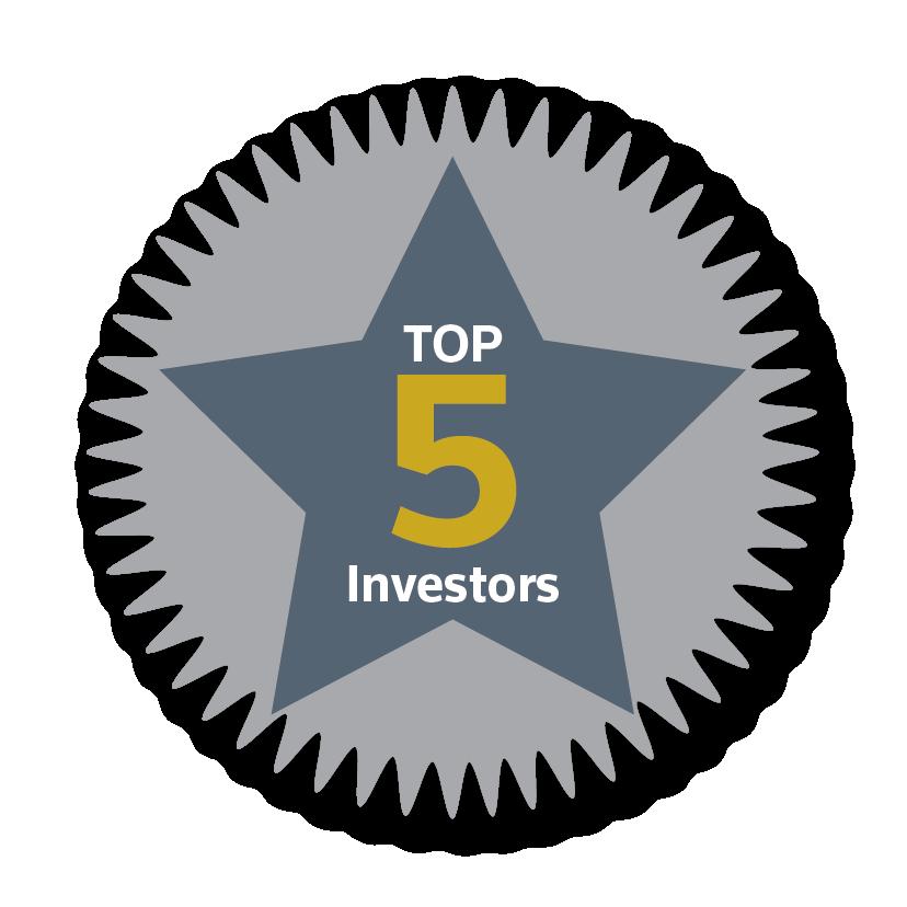 Top 5 Investors 2017
