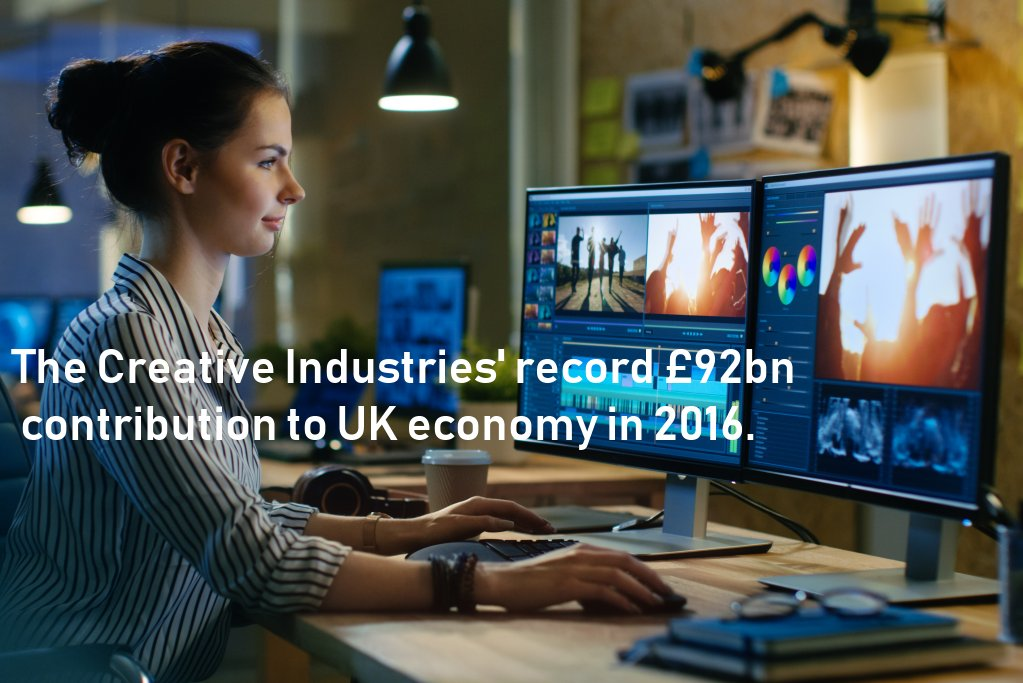 The Creative Industries record £92bn contribution to UK economy in 2016